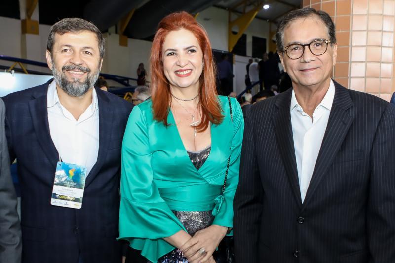 Elcio Batista, Enid Camara e Beto Studart