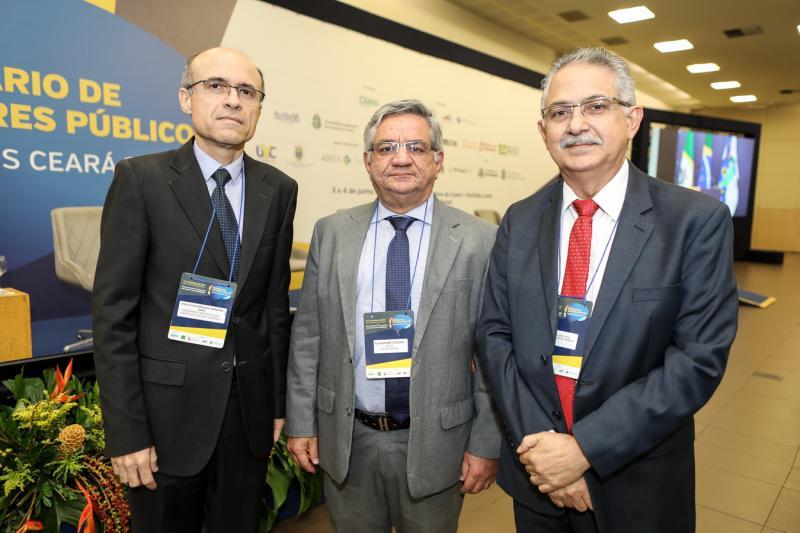 Paulo Alcantara, Alexandre Cialdini e Nilson Diniz