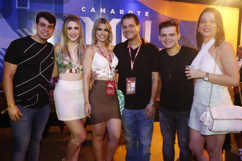 Ismael Rossas, Alice Correa, Salusa Rossas, Celso Luiz, Pedro e Iolanda Vasconcelos
