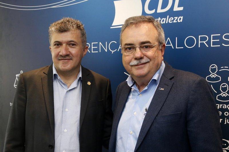 Assis Cavalcante recebe Antônio Henrique para almoço na CDL de Fortaleza