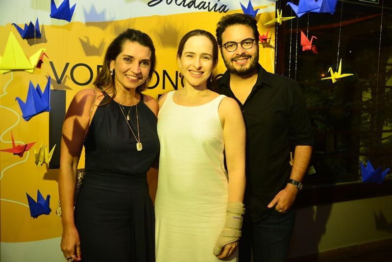 Marcia Travessoni, Beatriz Fiuza e Vinicius Machado