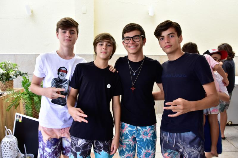 Dimitri Abreu, Lucas Philomeno, Lucas Martins e Tiago Oliveira