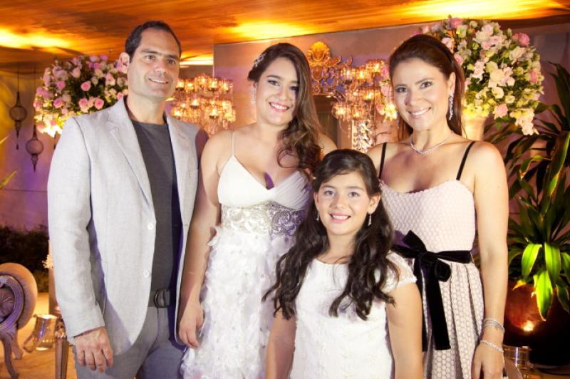 Tarso, Amanda, Bianca e Ana Cristina Melo