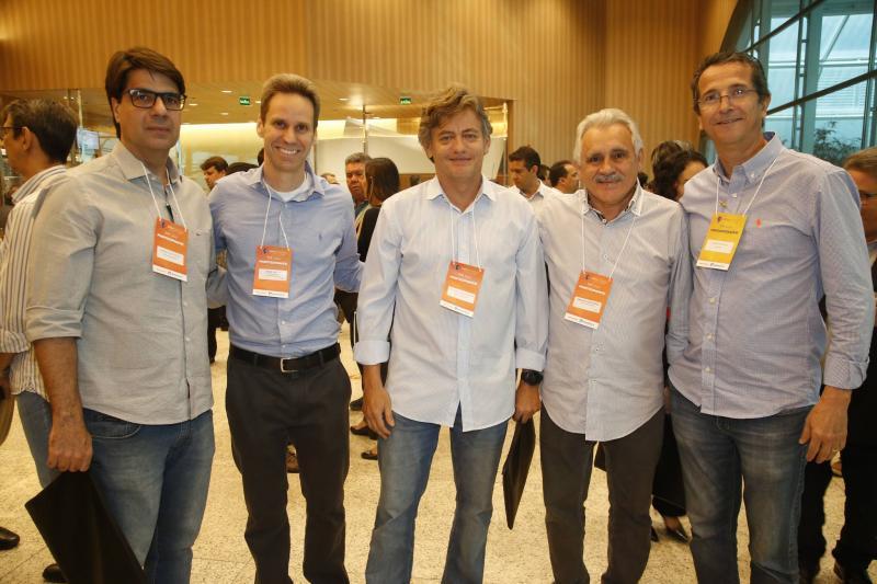 Marcelo de Castro, Jorge Dantas, Artur de Albuquerque, Emanuel Capistrano e Augusto Souza