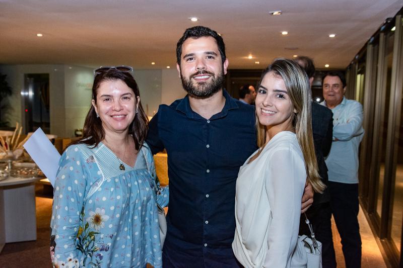Josiana Vidal, Bonaldo Filho e Ana Gabriele Vidal