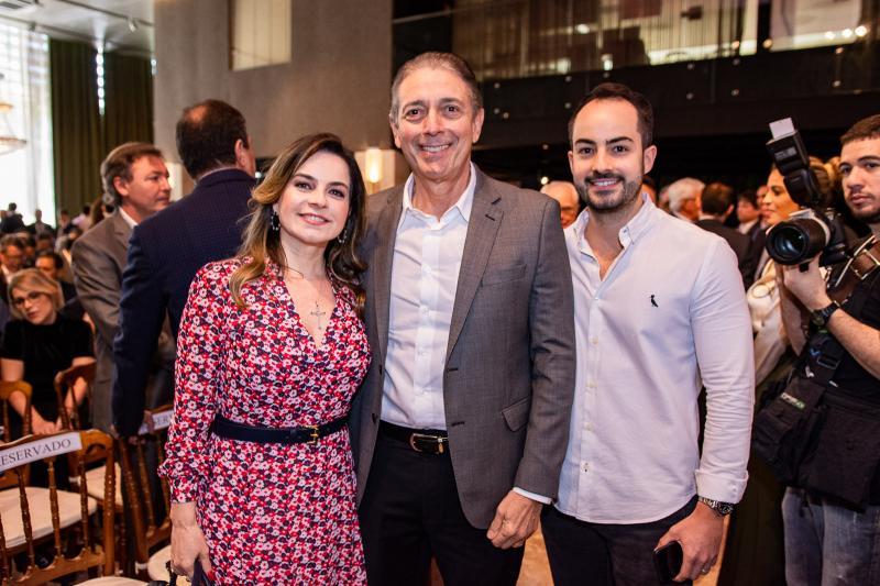 Daniela, Afranio e Felipe Barreira