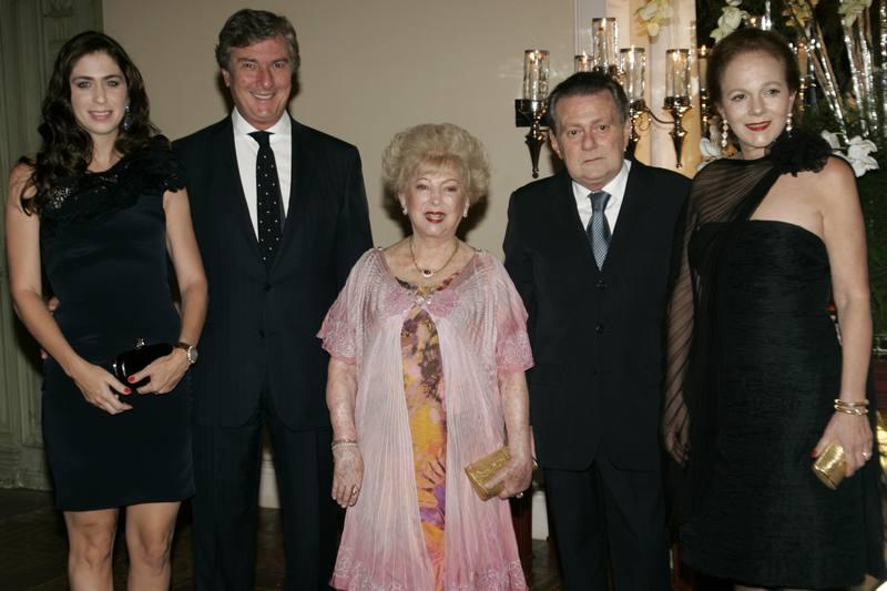Caroline e Fernando Color de Melo, Yolanda, Ayrton e Celina Queiroz