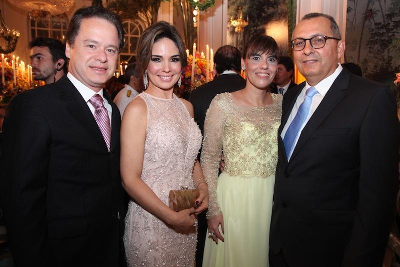 Lisandro e Eveline Fujita, Fernanda e Odilon Peixoto