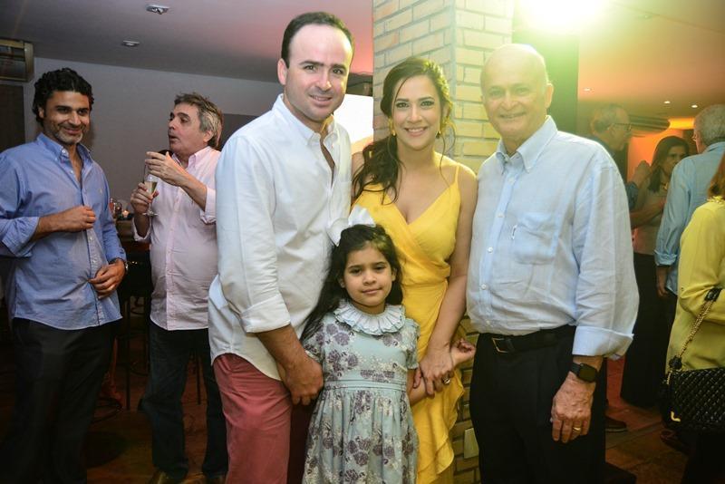 Pedro, Lara, Lauro e Sofia Fiuza