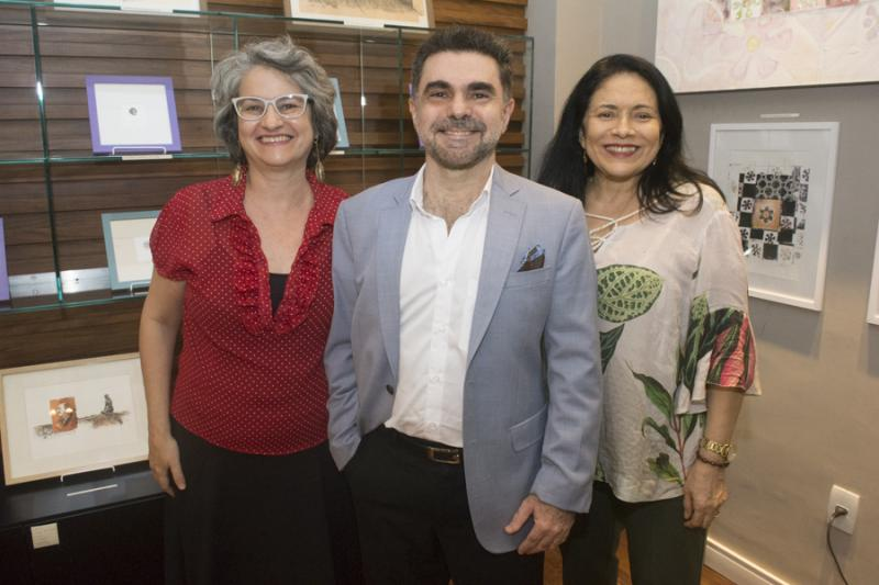 Monica e Isaac Furtado e Lucia Penaforte