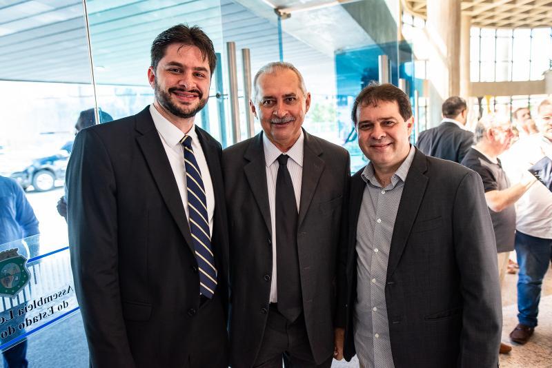 Guilherme Lnadim, Nesinho Farias e Evandro Leitao