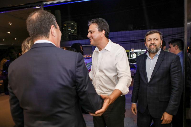 Luiz Gastao Bittencourt, Camilo Santana e Elcio Batista