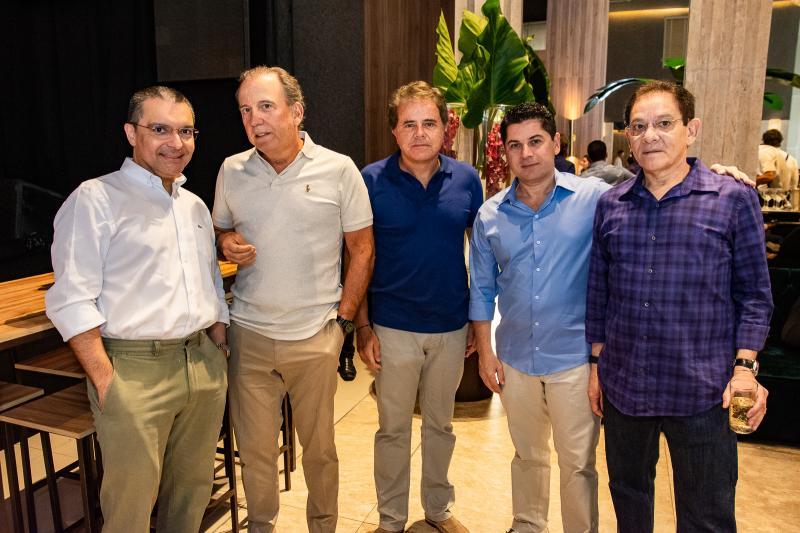 Daniel Demetrio, Binho Bezerra, Ivan bezerra, Pompeu Vasconcelos e Jose Bezerra