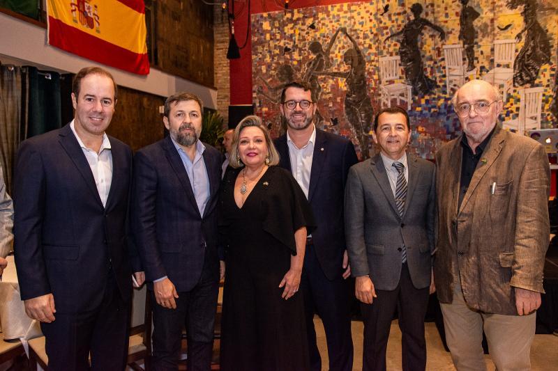 Cesar Ribeiro, Elcio Batista, Fernanda Carapeba Jensen, Jose Maria Zanocchi, Roberto Marinho e  Hans Juergen
