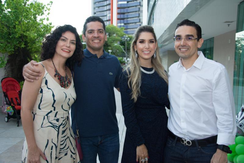 Aline e Germano Cardoso, Georgeanne e Marcio Magalhaes