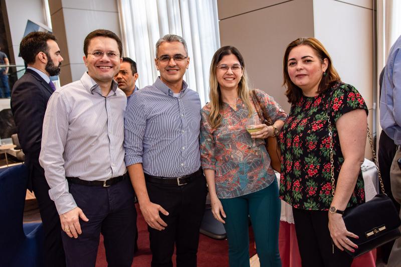 Marcos Alcanfor, Rodrigo Cortes, Luciana Teixeira e Sandra Linhares