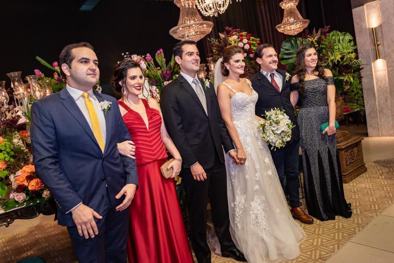 Leonardo Bastos, Ivna Baquite, Jose Carlos e Isabele Studart e