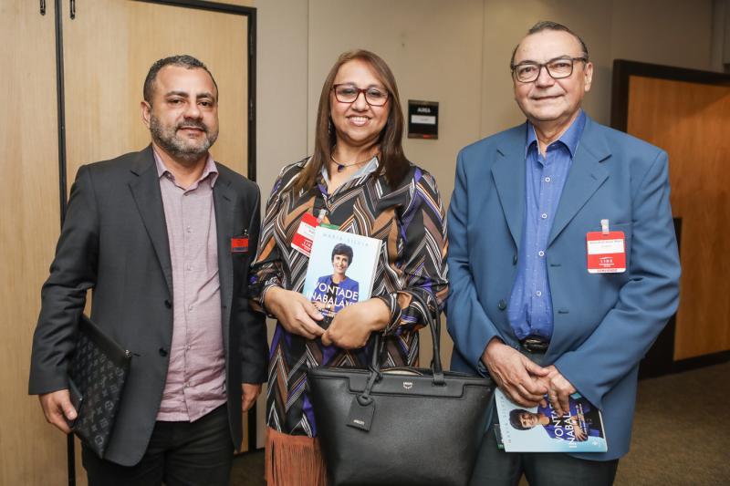 Vicente Junior, Albina Rodrigues e Eduardo Matos