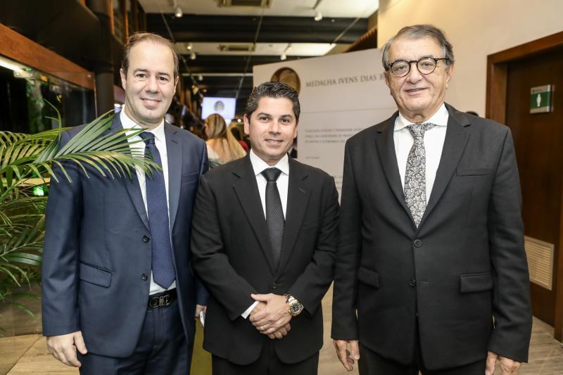 Cesar Ribeiro, Pompeu Vasconcelos e Arialdo Pinho
