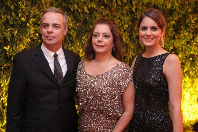 Roberto, Claudia e Beatriz Gradvohl