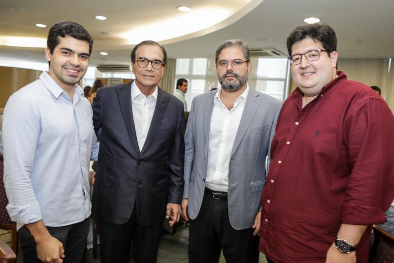 Pedro Garcia, Beto Studart, Edson Queiroz Neto e Yuri Torquato