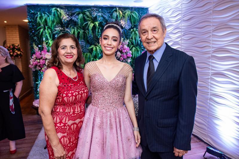 Terezinha Sampaio, Melina Portela e Paulo Portela