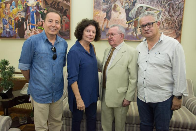 Ildefonso Rodrigues, Valeria Serpa, Henry Campos e Luiz Sergio Santos