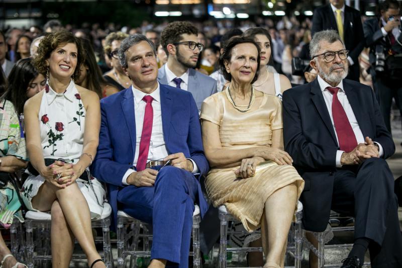 Luciana, Thiago, Ermengarda e Eudoro Santana