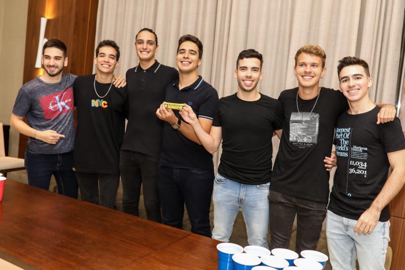 David Lucena, Lucas Sombra, Joao Padilha, Davi Teixeira, Charles Fernandes, Andre Caula e Pedro Cruz