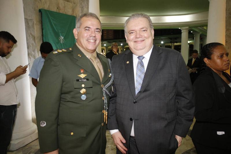 Coronel Marcio Morgado e Pedro Jorge Medeiros