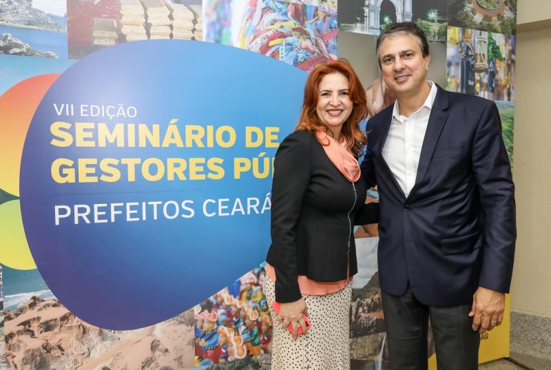 Enide Camara e Camilo Santana
