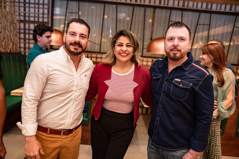 Miguel Dias, Carla Soraya e Cesar Martins