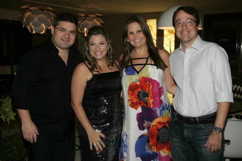 Mario e Vanessa Queiros, Silvana e Andre Carvalho