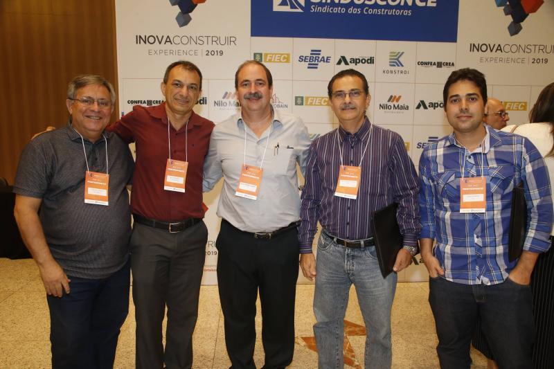 Tarcisio Bastos, Elias Pedrosa, Paulo Andre Holanda, Luiz Sergio e Thiago Moreira