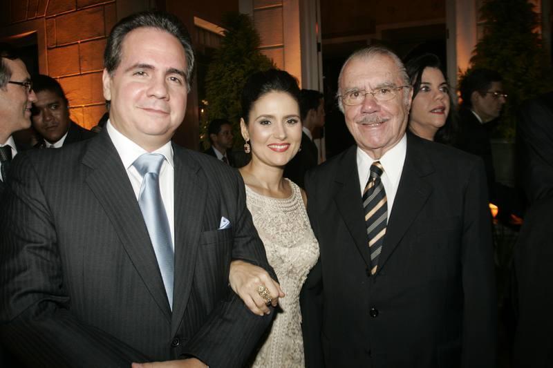Ricardo e Manuela Bacelar e Jose Sarney