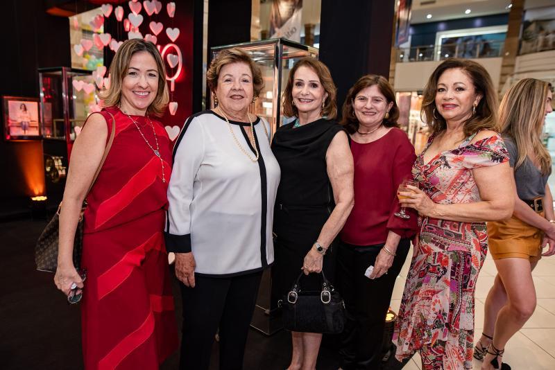 Luciana Martins, Glaucia Martins, Regina Targino, Marialba Studart e Maria Smith
