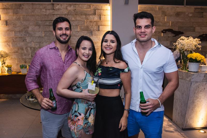 Felipe Brilhante, Karina Vasconcelos, Rayssa Vasconcelos e Igor Limaverde