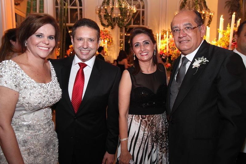 Patricia Aguiar, Domingos Filho, Cristiana Gomes e Gilmar Mendes
