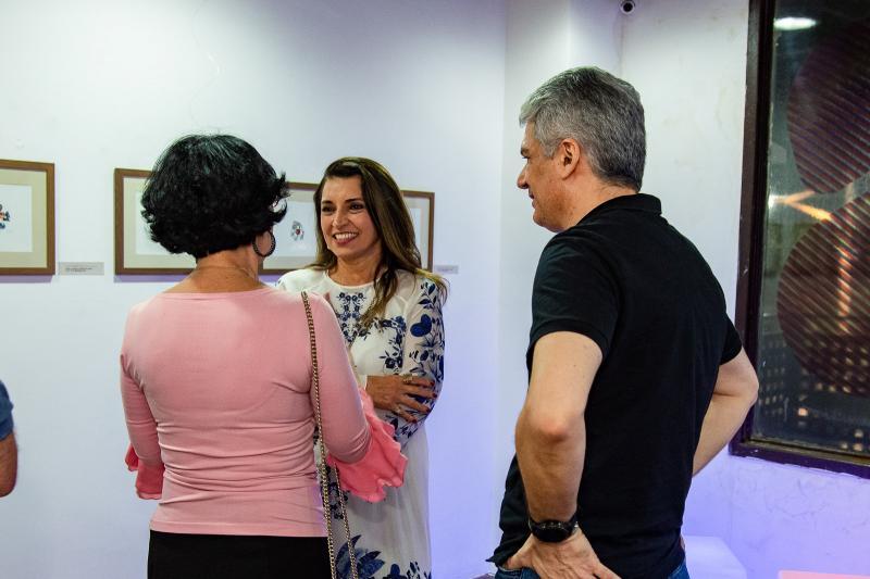 Denise Matta, Marcia Travessoni e Leonardo Leal