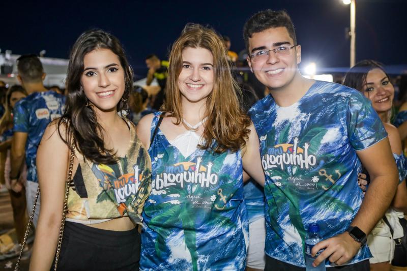 Anne Castelo, Amanda Kubrusli e Felipe Holanda