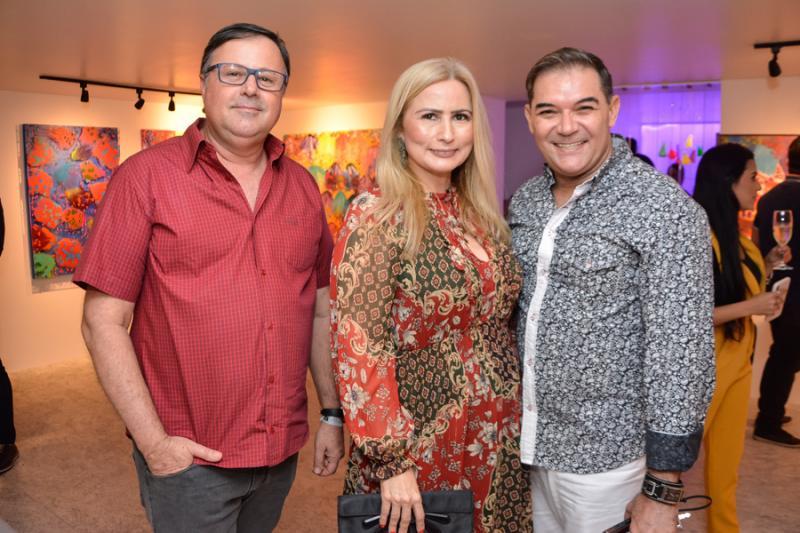Francisco Charron, Linda Nunes e Luciano Rocha