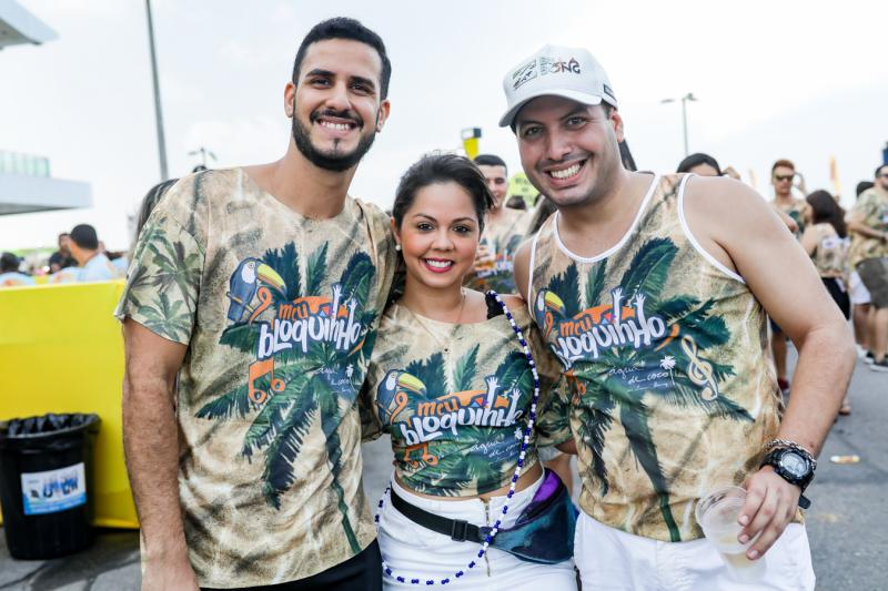 Hemerson Batista, Beatriz Santana e Claudio Cavalcante
