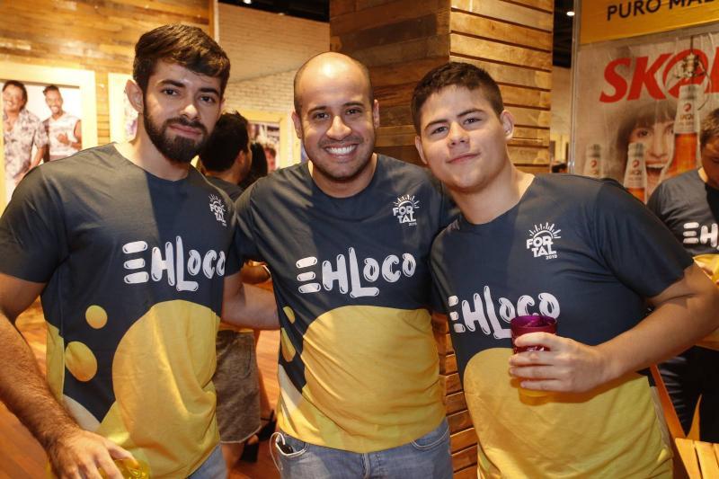 Lucas Almeida, Carlos Massud e Leandro Camara