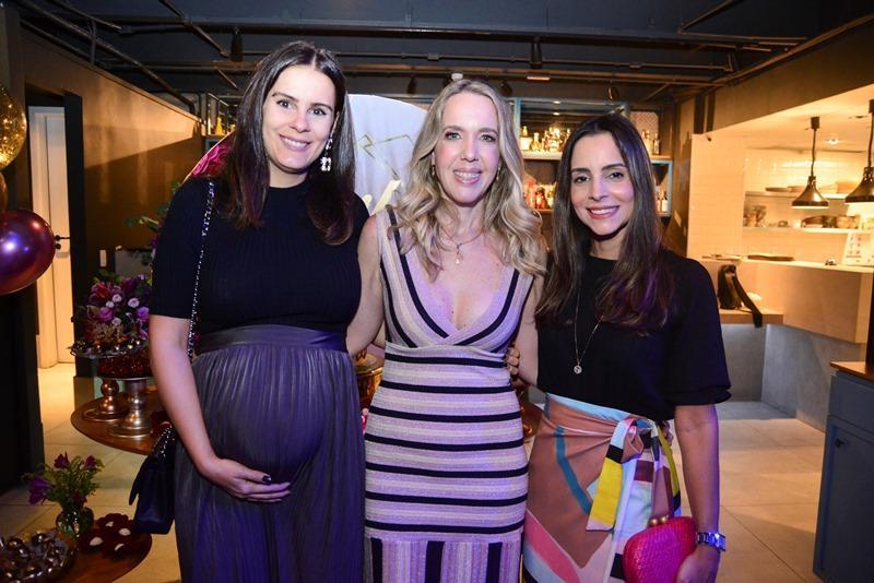 Deborah Bandeira, Erika Figueiredo e Ticiana Machado