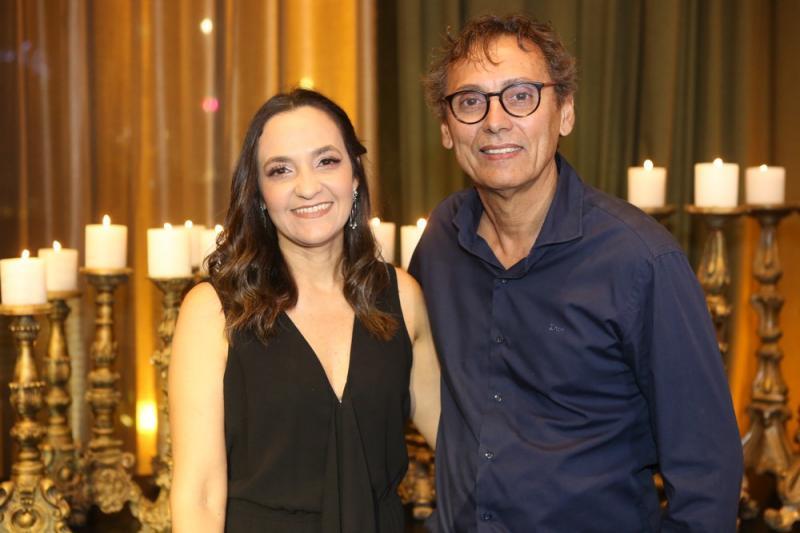 Samanta Diniz e Candido Ribeiro