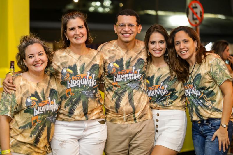 Joana e Manoela Nogueira, Renato Lima, Luana Felipe e Cristina Machado