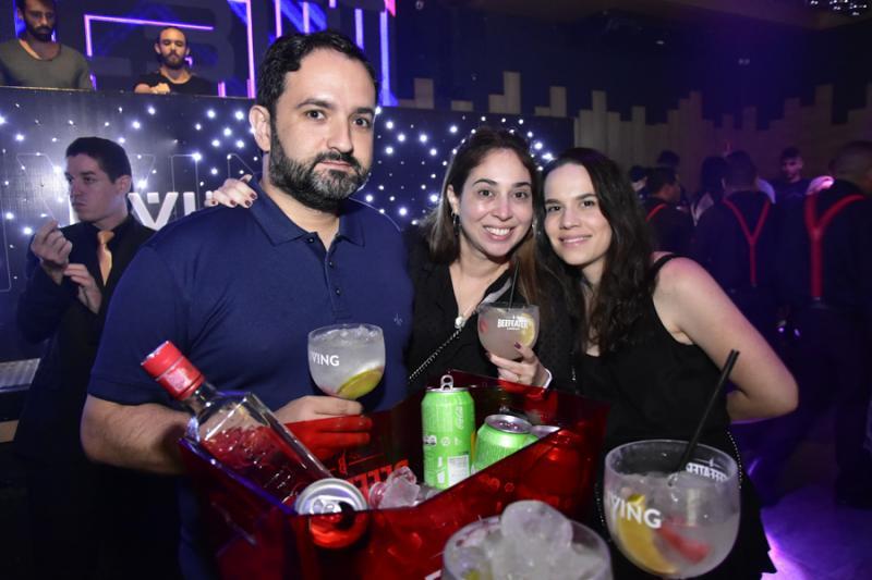 Pedro Neto, Luciana Pinheiro e Flavia Franca