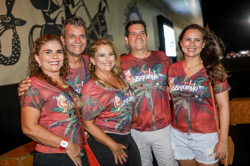 Madalena Feijao, Luiz Barbosa, Beth Pinto, Fabio Leite e Camile Nobre