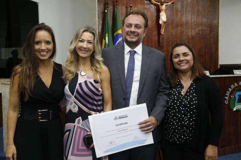 Gisele Bezerra, Carmen Rangel, Adriano Nogueira e Adriana Ferreira Gomes