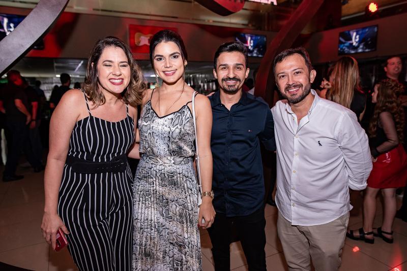 Poliana Ramalho, Andreia Narser, Felipe Moura e Lucilio Lessa